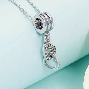 New Authentic PANDORA Silver INTERLOCKING LOVE